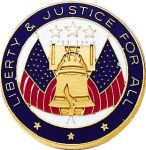 Blackinton Insignia and Recognition J-138 Liberty & Justice Lapel