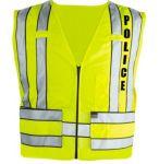 343P Zip-Front Breakaway Safety Vest w/ POLICE Logo