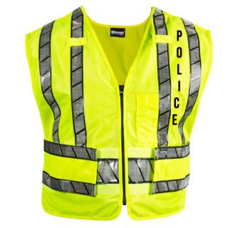 Blauer 343R-P Oralite Zip-Front Safety Vest - Police Logo