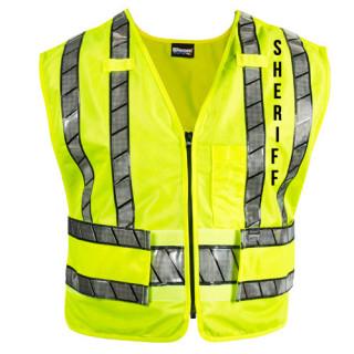 Blauer 343R-S Oralite Zip-Front Safety Vest - Sheriff Logo