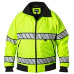 Blauer 6113 Hi-Vis Fleece Lined Bomber Jacket