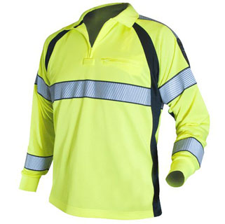 Blauer 8147 Long Sleeve Hi-Vis Polo Shirt
