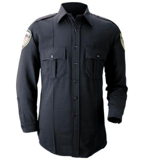 Blauer 8600-Z Long Sleeve Zippered Polyester Shirt