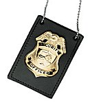 Neck Chain Badge/ID Holder, Plain, Pin-In