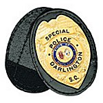 Large Oval Clip-On Badge Holder, with Recessed Cutout