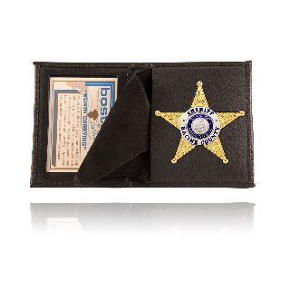 Boston Leather 100 Book Style Badge Case