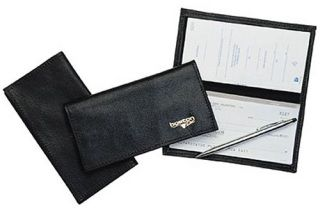 Boston Leather 1055S Checkbook Cover, Soft Leather