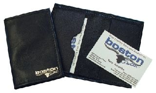 Boston Leather 1080S Business Card Holder, Soft Leather