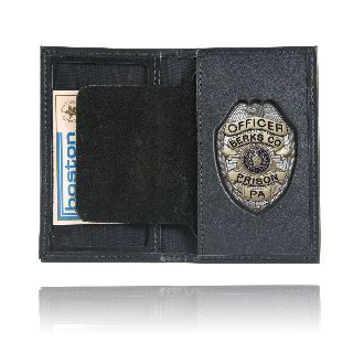 Boston Leather 110 Book Style Badge Case w/ Oversize Id