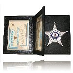 Boston Leather 122 Book Style Badge Case With 2 Id