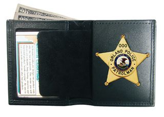 Boston Leather 150 Book Style Badge Case / Wallet