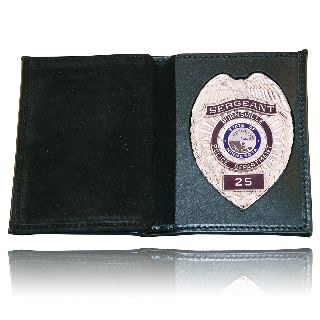 Boston Leather 165-1ID Book Style Wallet w/ Vertical Credit Card Slots & Id Window