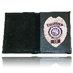 Boston Leather 165 165 Book Style Wallet w/ Vertical Credit Card Slots