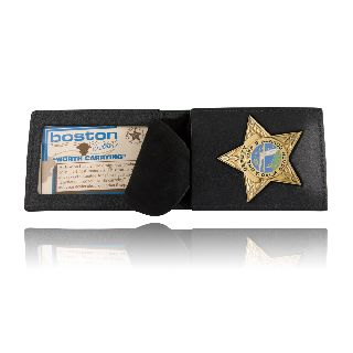 Boston Leather 200 Billfold Badge Case