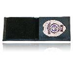 Boston Leather 275-1ID Billfold Badge Case/Wallet w/ Cc Slots & Id Window