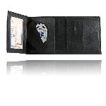 Boston Leather 375 Tri-Fold Badge Wallet w/ Cc Slots