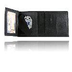 Boston Leather 375 Tri-Fold Badge Wallet w/ Cc Slots