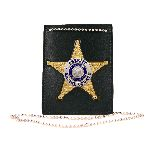 Boston Leather 400 Neck Chain Holder With Custom Cut-Out For Badge On Front And Id Compartment On Back
