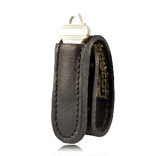 "Boston Leather 5499 1"" Wide Keeper w/ Key Holder Pocket"