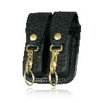 Boston Leather 5608 5601 Double Mag Pouch w/ Double Key Holder