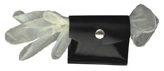 Boston Leather 5640V Rubber Glove Pouch, Hook & Loop Closure