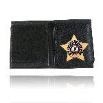 Boston Leather 575 Badge Wallet With Flip Up Badge Holder