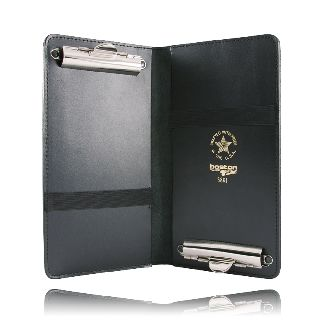 Boston Leather 5881 Double Citation Book Holder w/Clips