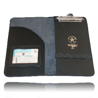 Boston Leather 5882 Citation Book Holder, 1 Pocket, 1 Clip