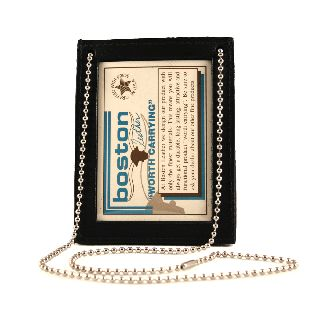 Boston Leather 5982 Neck Chain, 2 Id - No Badge