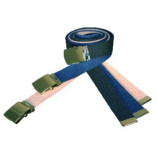 "Boston Leather 6280 Cotton Web Belt, 52"" Cut To Fit w/ Buckle"