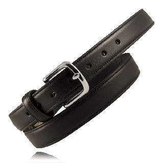 "Boston Leather 6425 1 1/4"" Heavy Leather Feather Edge Dress Belt"