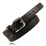 "1 1/4"" Heavy Leather Feather Edge Dress Belt"
