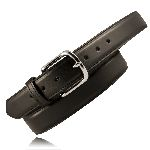 "1 1/2"" Heavy Leather Feather Edge Dress Belt"