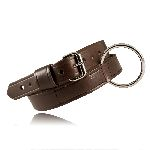 "Boston Leather 6541 1 1/2"" Restraint Belt, Brown, 32-54"