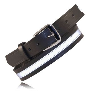"Boston Leather 6580R 1 1/4"" Off Duty Belt, w/ Reflective Ribbon"