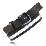 "Boston Leather 6580R 1 1/4"" Off Duty Belt, w/ Reflective Ribbon"