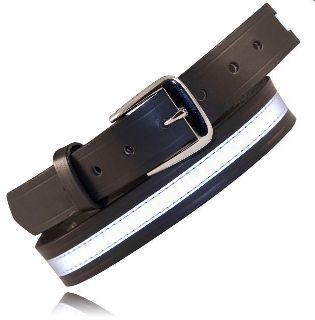"Boston Leather 6582R 1 1/2"" Off Duty Belt, w/Reflective Ribbon"