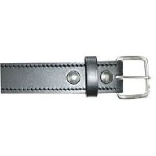 "Boston Leather 6582ST 1 1/2"" Off Duty Belt, Stitched Edge"