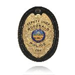 Boston Leather 700 Large Oval Badge Holder w/ Recessed Cutout