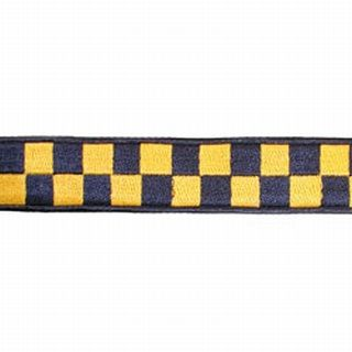 "Boston Leather 8154-5 1 1/2"" Navy & Gold Nylon Collar (Adjusts 14""-22"")"
