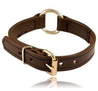 "Boston Leather 8350-1 1"" Center Ring Collar"
