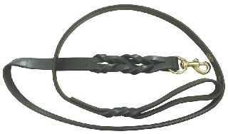 "Boston Leather 8405-1 Braided Lead 60"" (Black Leather)"