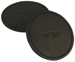 """Boston Leather 9025 Leather Coaster, 4"""" Diameter"""