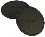 "Boston Leather 9025 Leather Coaster, 4"" Diameter"