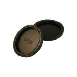 "Boston Leather 9026 Deluxe Leather Coaster, 4"" Diameter"