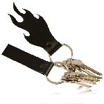 Boston Leather 9106 Zipper Pull - Flame Shaped - Key Fob