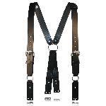 "Boston Leather 9175 Fireman""S Leather Suspenders (Button)"
