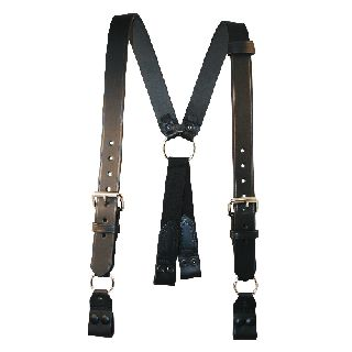 "Boston Leather 9177XL Fireman""S Suspenders (Snaps Onto Itself - Loop)(3"" Longer)"