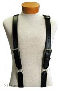 "Boston Leather 9179R ""H"" Back Suspenders (Loop)(Reflective)"