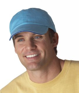 Bodek 166 Anvil Solid Low-Profile Sandwich Trim Pigment-Dyed Twill Cap